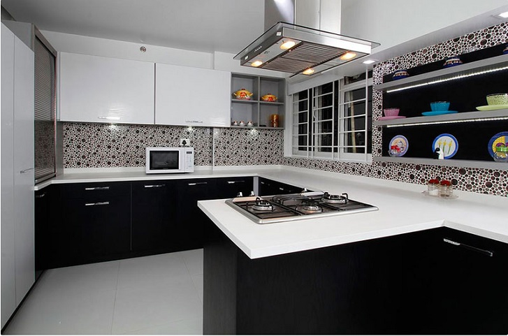 Tips pintar memilih warna kitchen set rumah dan gaya for Kitchen set hitam putih
