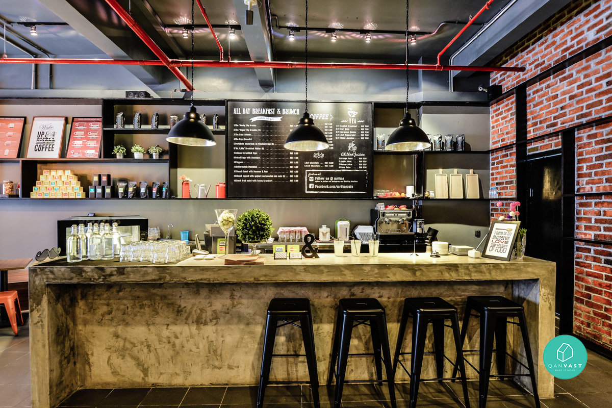 7 funky cafe designs to get inspired from home living for Interior cafe designs