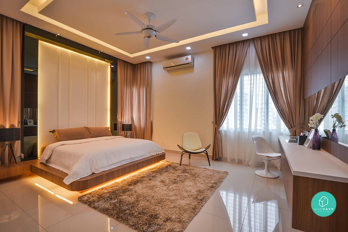 Contemporary bedroom design ideas for a perfect bedroom for Modern living room malaysia