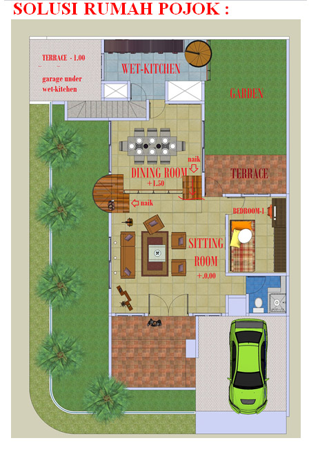 Feng Shui Rumah Sudut Hoek Rumah Dan Gaya Hidup Rumah Com