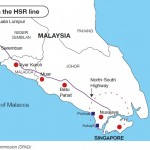 Map showing stations on the HSR line.
