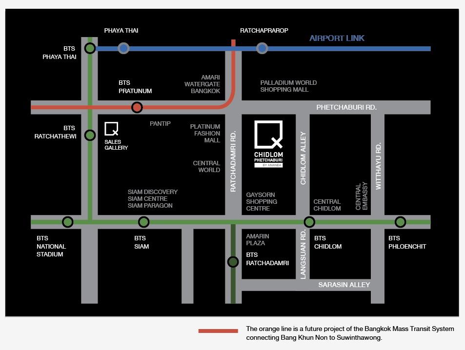 Ideo Q Chidlom-Petchburi map