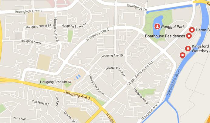 Kingsford Waterbay map