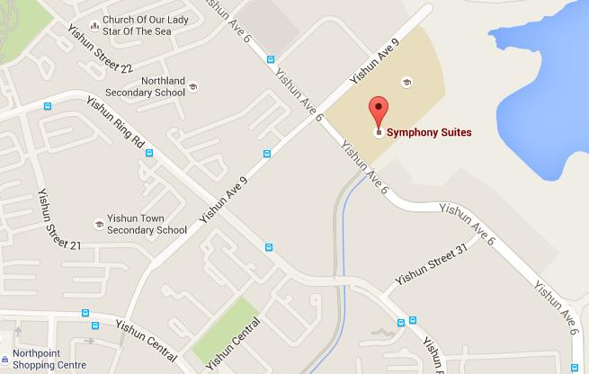Symphony Suites Map