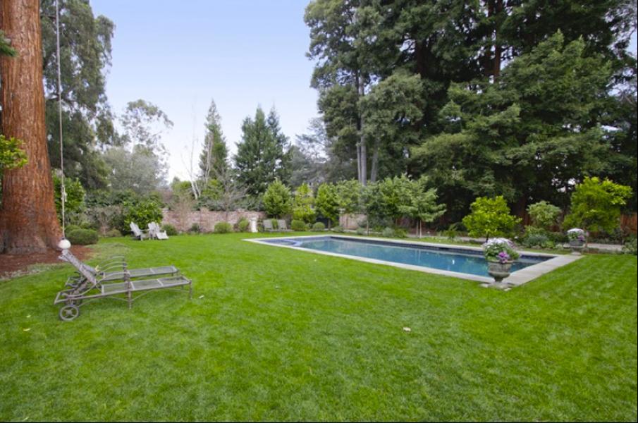 Mark juga bisa menikmati sebuah kolam renang air laut berukuran sedang di halaman rumahnya.