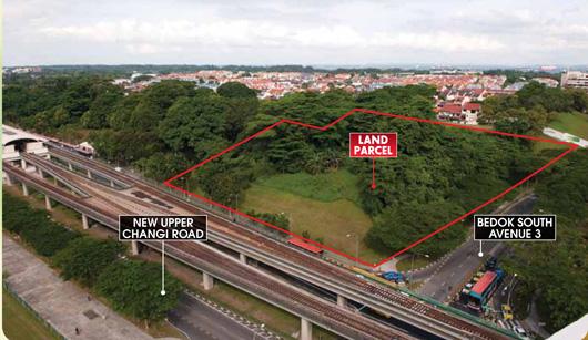 Aerial view of the site at Tanah Merah.