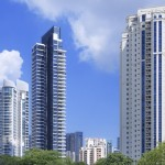 Apartment blocks in Singapore resize