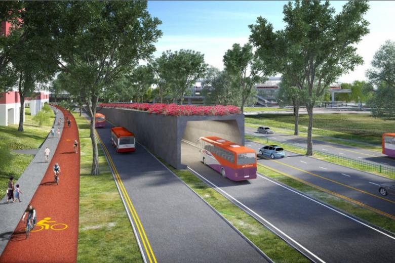 Dedicated bus lanes