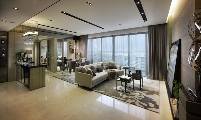 Living room at Bedok Residences resize
