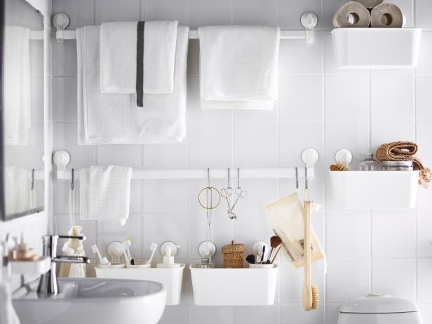 Ilustrasi perlengkapan kamar mandi yang tersusun rapi (sumber: IKEA U.S.)
