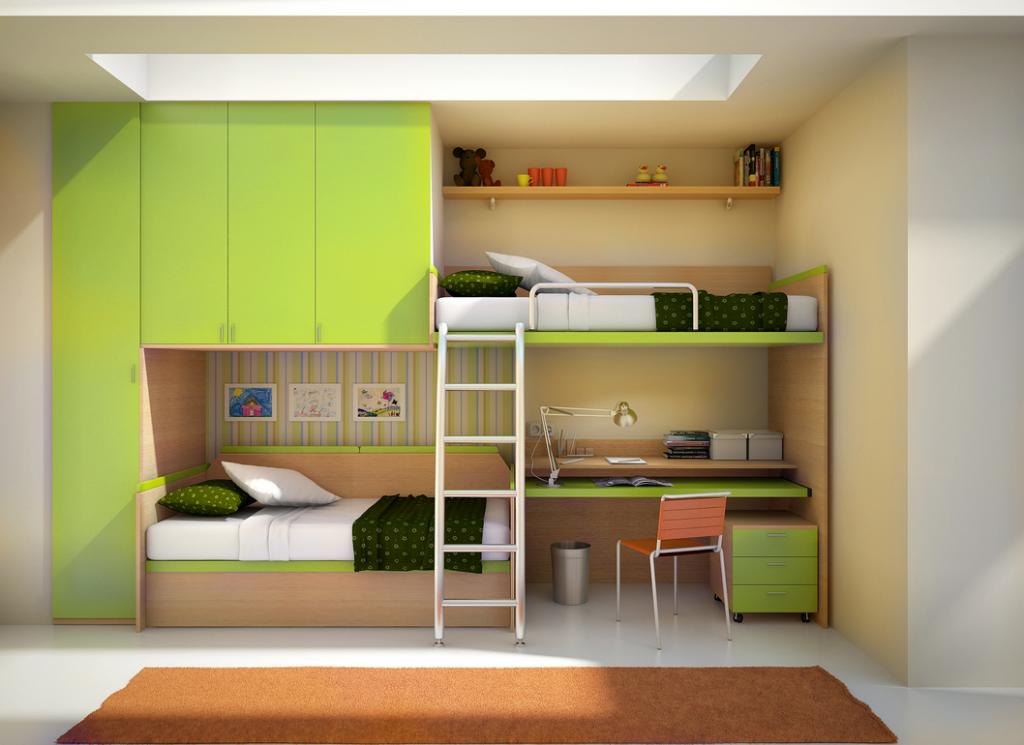 bunk bed sekaligus lemari