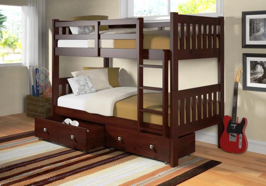 bunk bed simpel dengan laci