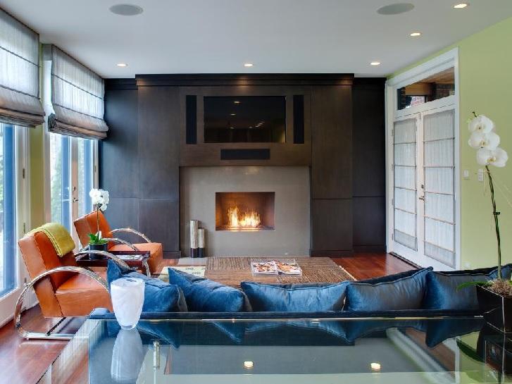 Contoh menerapkan warna abu-abu di ruang tamu (sumber: hgtv.com)