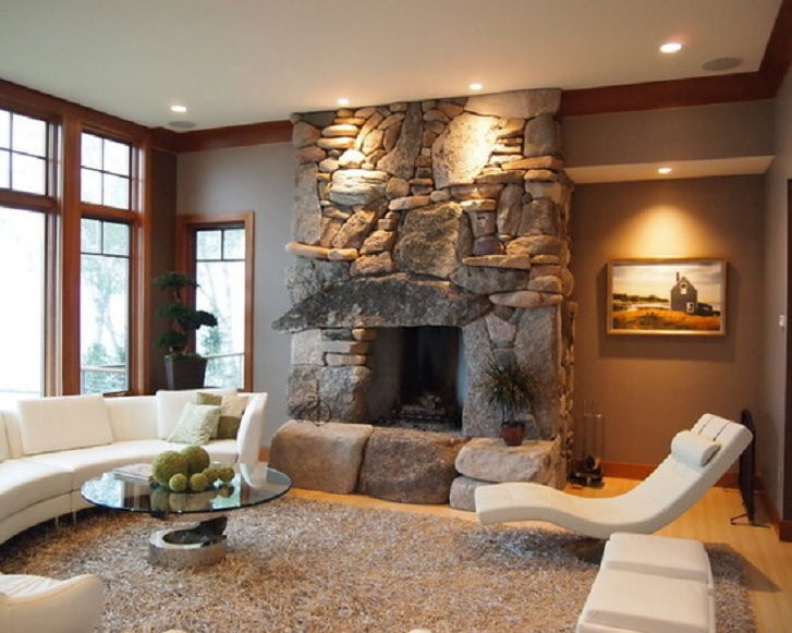 Contoh ruang keluarga Yin-Yang karya Andres Inc. (sumber: houzz.com)