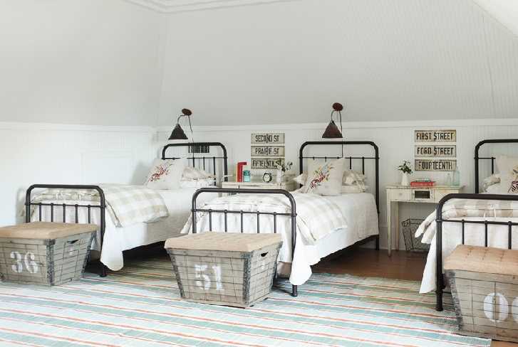 Pilihan tempat tidur untuk konsep rumah yang dijadikan sebagai bisnis penginapan (sumber: pinterest.com)