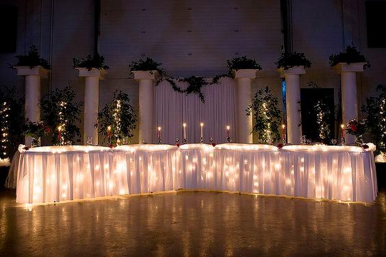 Menggunakan warna putih dan lampu-lampu di dalamnya akan membuat takjub di mata para tamu (pinterest.com)