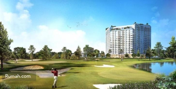 Apartemen Mustika Golf Residence berlokasi bersebelahan dengan lapangan gol Jababeka.