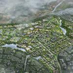 Aerial view of Tengah new town-crop