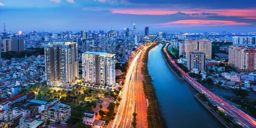 CapitaLand's 17storey residential tower 22storey Somerset serviced residence in prime District 1 of HCMC-crop