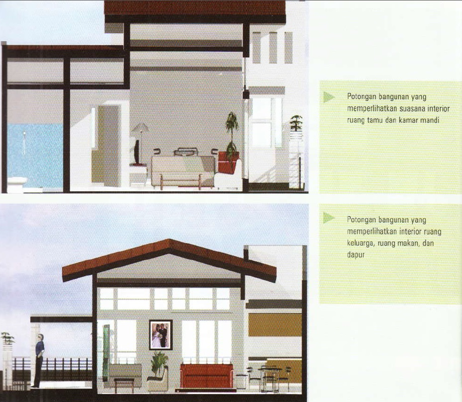 contoh sketsa rumah di LT 60-interior