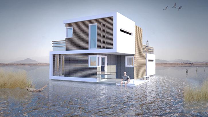 Ide desain rumah terbelah dua