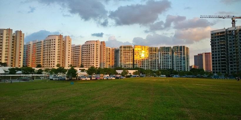 Open field near Buangkok MRT