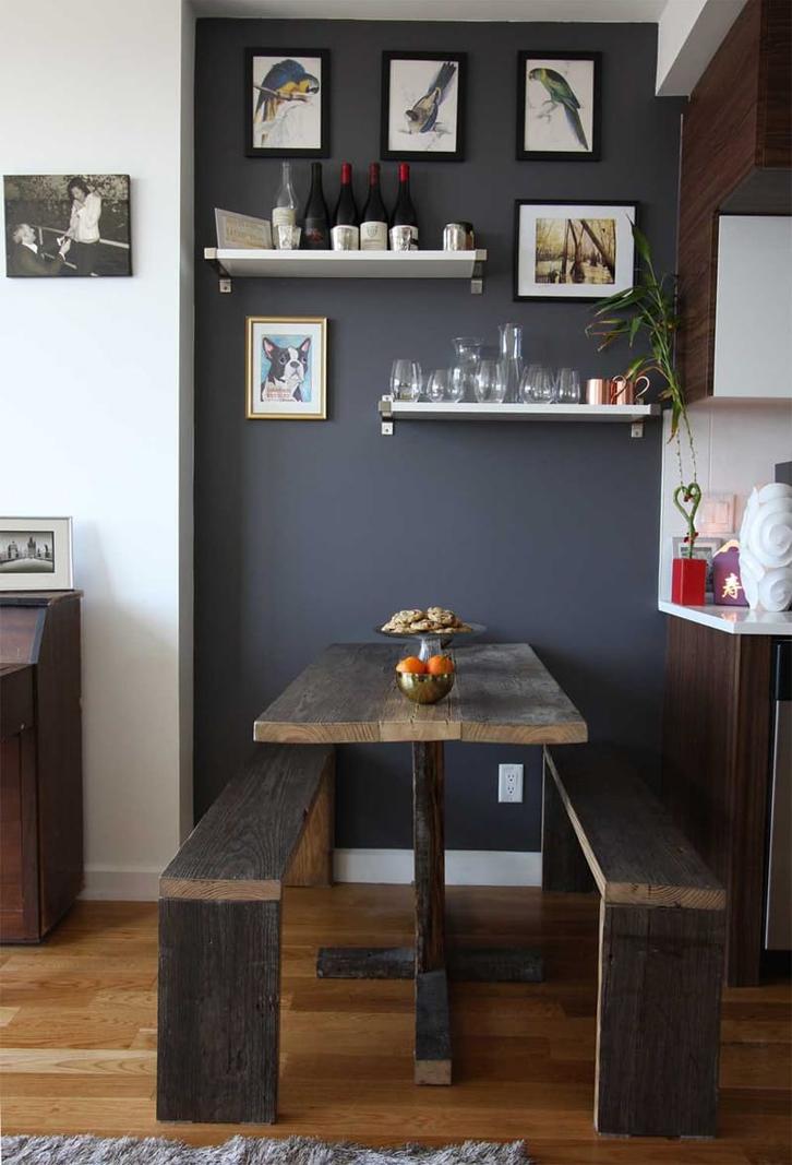 Area makan di ruang sempit