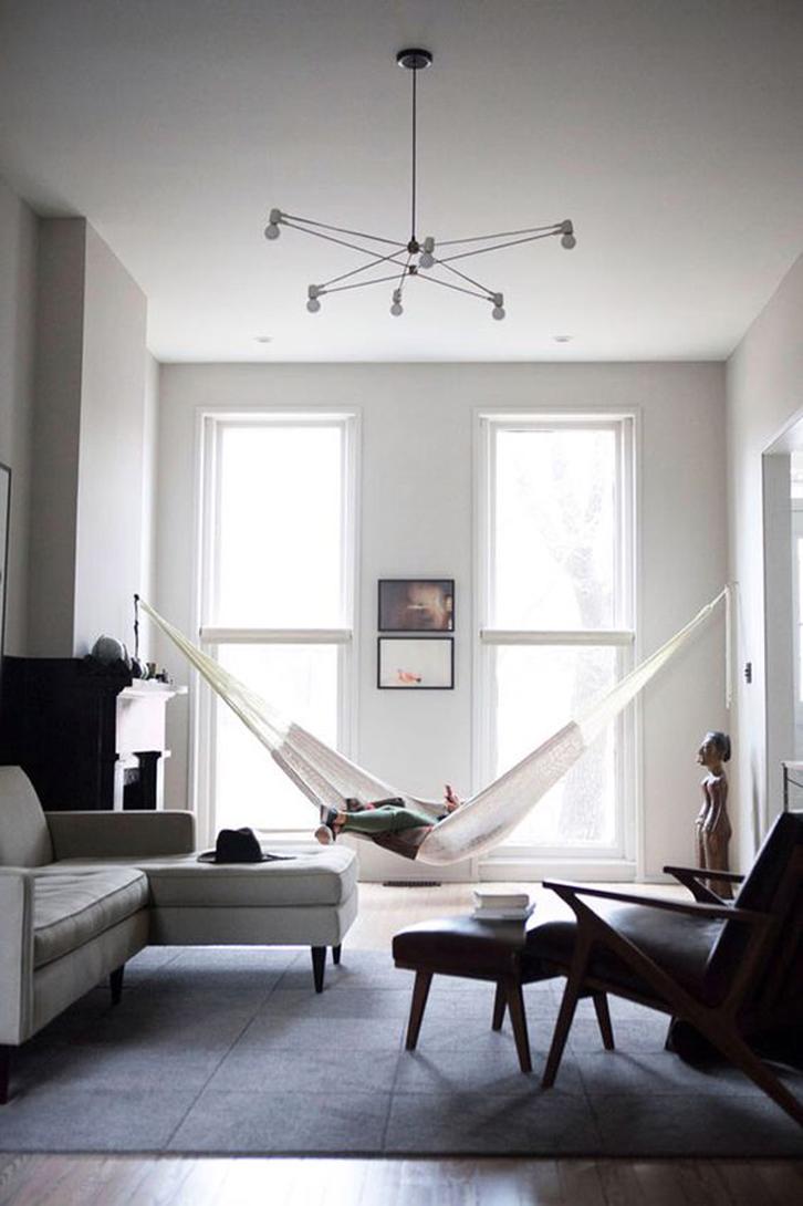 Tentukan lokasi pemasangan hammock