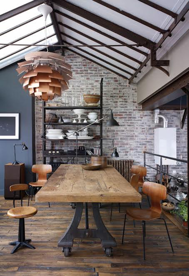 Tips Ciptakan Ruang Makan Bergaya Industrial Rumah Dan Gaya