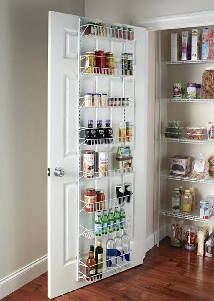 Untuk Bahan Makanan Bisa Menambahkan Rak Di Belakang Pintu Lemari Penyimpanan