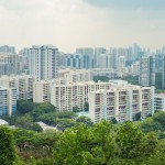Singapore cityscape viewing from Mount Faber hill top