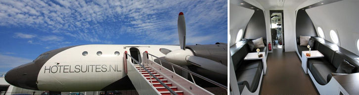 Rasakan pengalaman bermalam di pesawat pribadi lewat Airplane Suite.