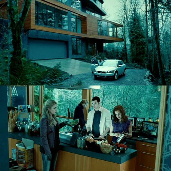 rumahnya didesain unik dan bergaya kontemporer.