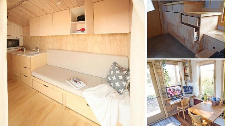 Bagian bawah kursi bisa dimanfaatkan untuk ruang penyimpanan.