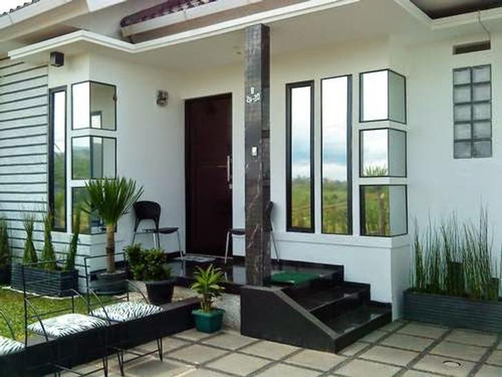 desain teras rumah minimalis kursi simpel