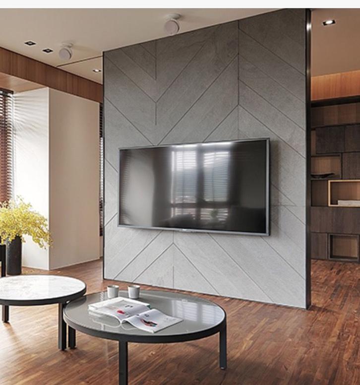 Manfaatkan panel tv sebagai partisi ruang