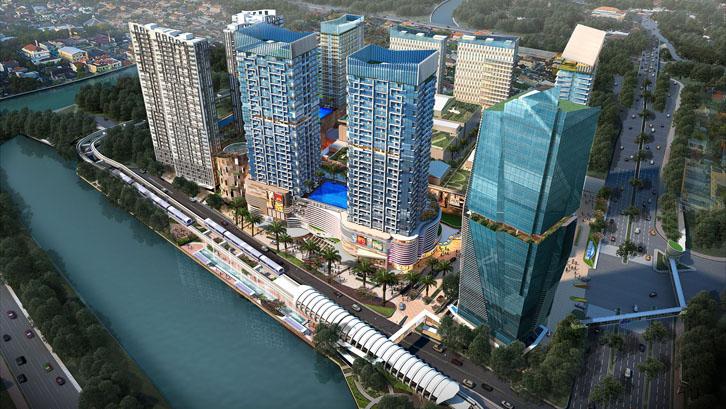 memiliki lifestyle mall dan 7 tower apartemen dan perkantoran