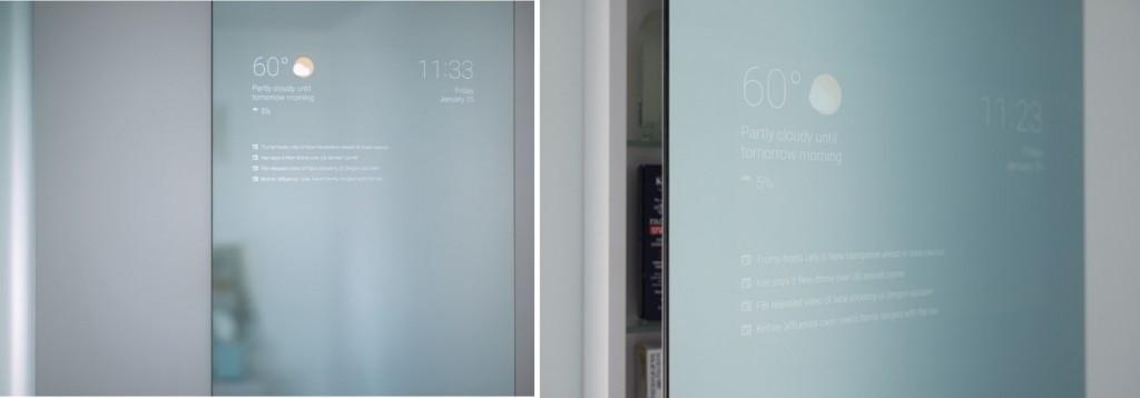 กระจก Smart ถูกติดตั้งในแบบบ้าน Smart Home