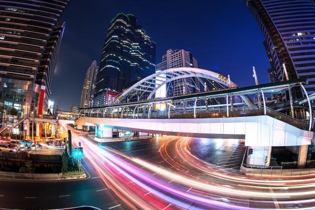 Bangkok Chong Nonsi skywalk at bangkok skytrain station on Silom Line