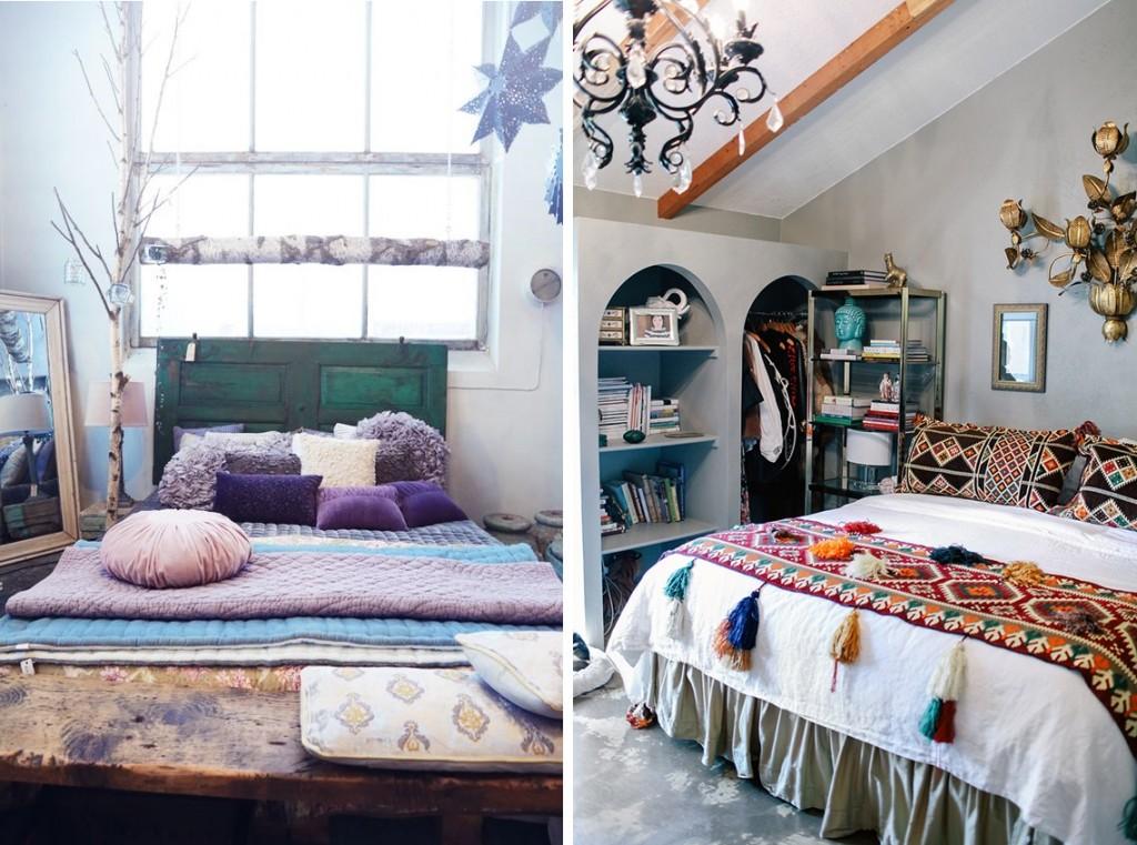 ห้องนอนสไตล์โบฮีเมียน สีสันสดใส