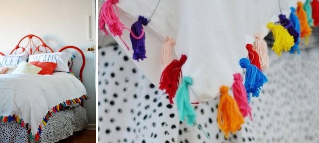 ผ้าปูที่นอน ใช้ตกแต่งห้องนอนสไตล์โบฮีเมียน