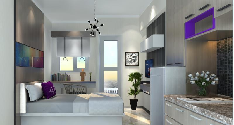 Terdapat dua tipe unit di 48 Bekasi City Center yakni Studio dan Two Bedroom