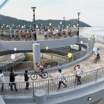 Penang Opens Country's First Spiral Bridge for Bicycles, Pedestrians