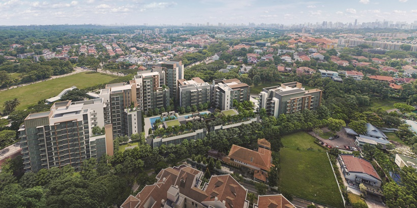 Aerial view of Fourth Avenue Residences crop