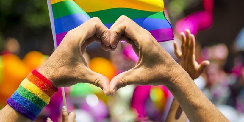 LGBT rainbow flag crop