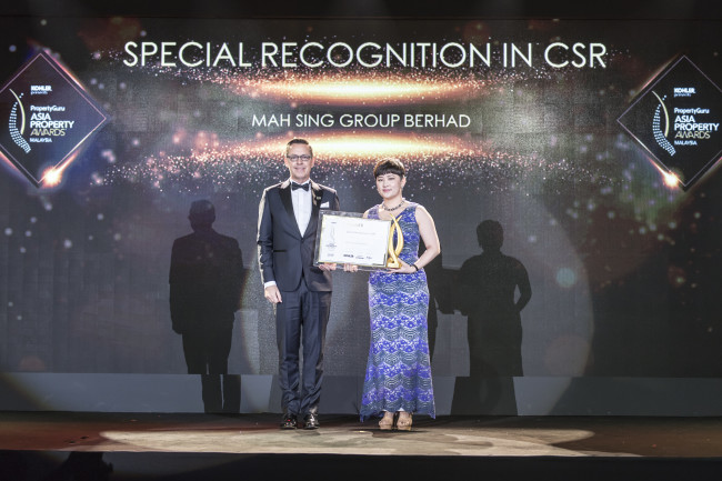 Mah Sing Group Scoops Malaysia's Special Recognition in CSR Award Through its Holistic and Life-Enhancing Foundation