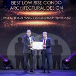 Paul & Prive di Marc's Boulevard oleh Triniti Land meraih penghargaan Best Low Rise Condo Architectural Design 2019