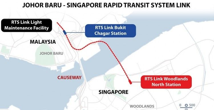 Johor Woodlands RTS Link map