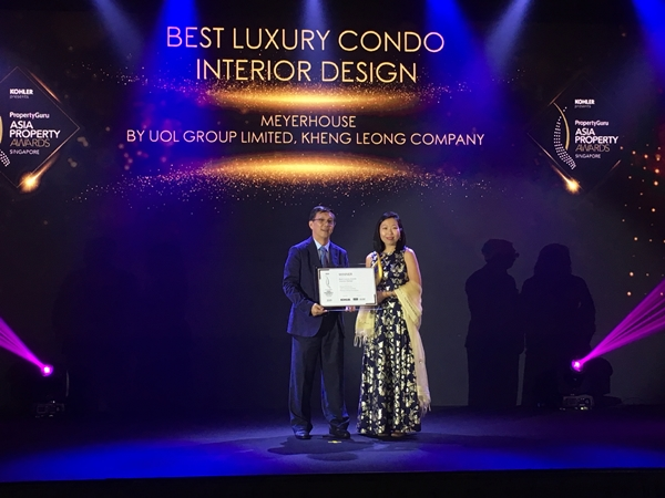 Meyerhouse by UOL Group won 'Best Luxury Condo Design' at PropertyGuru's APA 2019
