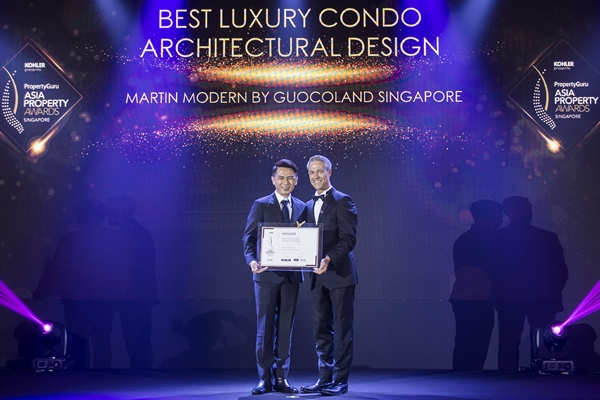 Martin Modern by GuocoLand is the Winner of Best Luxury Condo Architectural Design at PropertyGuru Asia Property Awards (Singapore) 2019